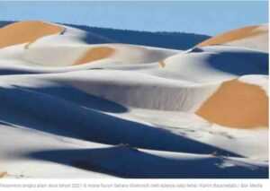 Strange Natural Phenomena Snowfall Sahara Saudi Arabia