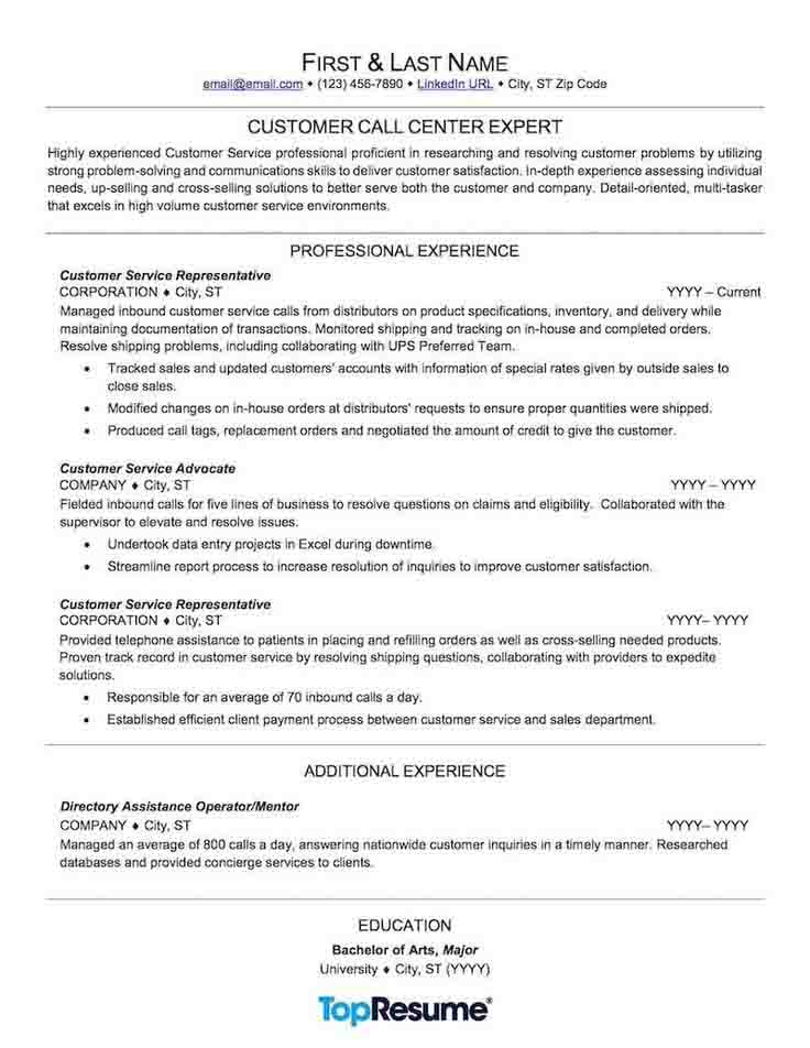 Resume Skills Examples for Customer Service Resume Sample, resume examples no experience
