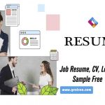 job resume letter cv free sample